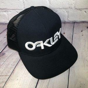 Oakley Black Cap Hat Mesh Back